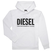 Clothing Boy sweaters Diesel SDIVISION LOGO White