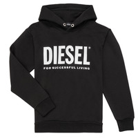 Clothing Boy Sweaters Diesel SDIVISION LOGO Black