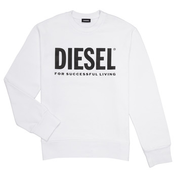 Clothing Boy Sweaters Diesel SCREWDIVISION LOGO White