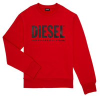 Clothing Boy Sweaters Diesel SCREWDIVISION LOGO Red