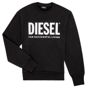 Clothing Boy Sweaters Diesel SCREWDIVISION LOGO Black