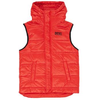 Clothing Boy Duffel coats Diesel JSUNNY Red