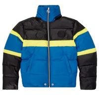Clothing Boy Duffel coats Diesel JMARTOS Black / Blue / Yellow
