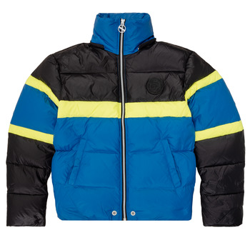 Clothing Boy Duffel coats Diesel JMARTOS Black / Blue / Yellow
