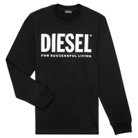 Clothing Children Long sleeved tee-shirts Diesel TJUSTLOGO ML Black