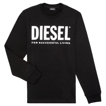 Clothing Boy Long sleeved tee-shirts Diesel TJUSTLOGO ML Black