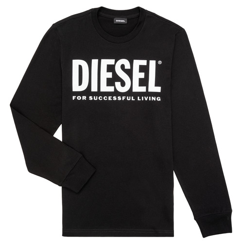 Clothing Children Long sleeved tee-shirts Diesel TJUSTLOGO ML Black