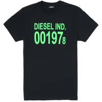 Clothing Children Short-sleeved t-shirts Diesel TDIEGO1978 Black