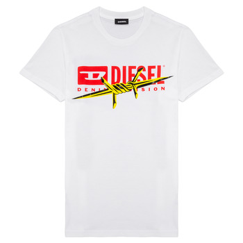 Clothing Boy short-sleeved t-shirts Diesel TDIEGOBX2 White