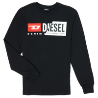 Clothing Children Long sleeved tee-shirts Diesel TDIEGOCUTY Black