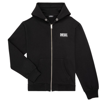 Clothing Boy Sweaters Diesel SGIRKHOODZIP LOGO Black
