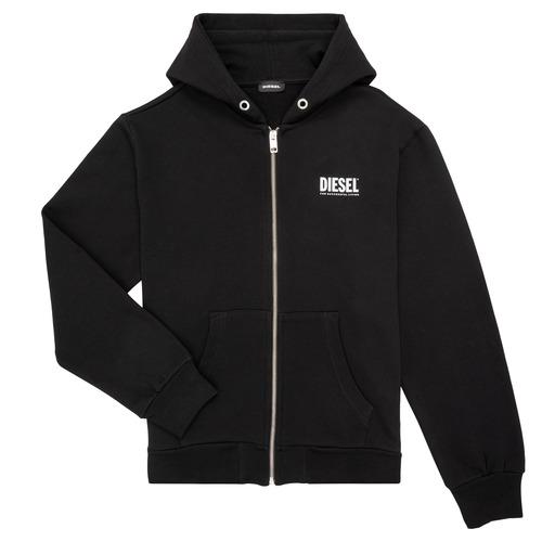 Clothing Boy Sweaters Diesel SGIRKHOODZIP LOGO Black