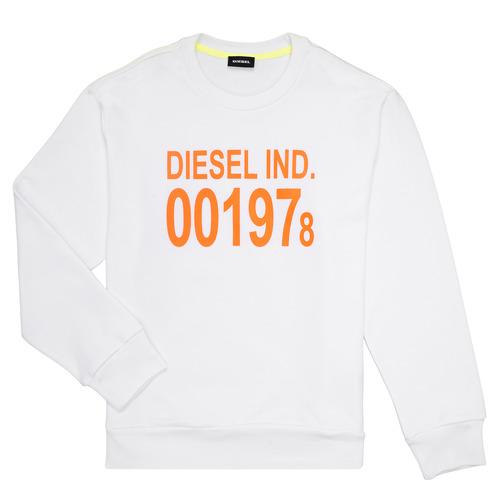Clothing Children Sweaters Diesel SGIRKJ3 White