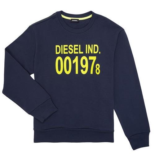 Clothing Children Sweaters Diesel SGIRKJ3 Blue