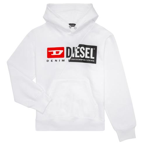 Clothing Children Sweaters Diesel SGIRKHOODCUTY White