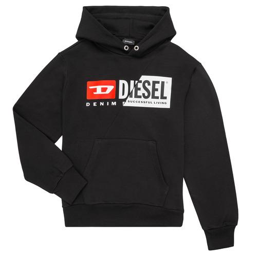 Clothing Children Sweaters Diesel SGIRKHOODCUTY Black