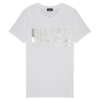 Clothing Girl short-sleeved t-shirts Diesel TSILYWX White