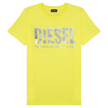 Clothing Girl short-sleeved t-shirts Diesel TSILYWX Yellow