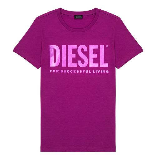 Clothing Girl Short-sleeved t-shirts Diesel TSILYWX Pink