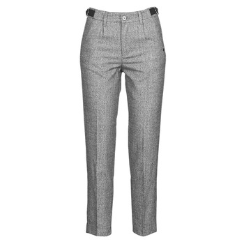 Clothing Women 5-pocket trousers Freeman T.Porter SHELBY MOKKA Grey / Clear