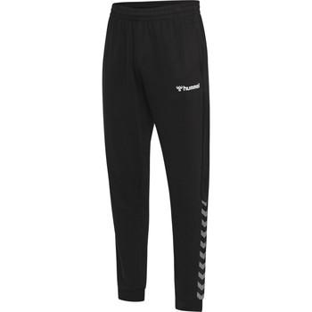 Clothing Men Tracksuit bottoms Hummel Pantalon  hmlAUTHENTIC noir/blanc