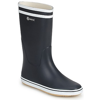 Shoes Women Wellington boots Aigle MALOUINE BT MARINE / White
