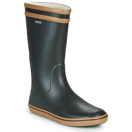 Shoes Women Wellington boots Aigle MALOUINE BT Black / Camel