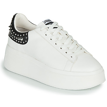 Shoes Women Low top trainers Ash MOBY STUDS White /  black