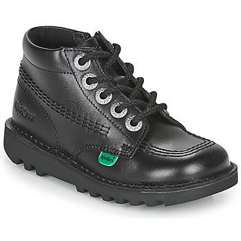 Shoes Children Mid boots Kickers KICK HI ZIP  black