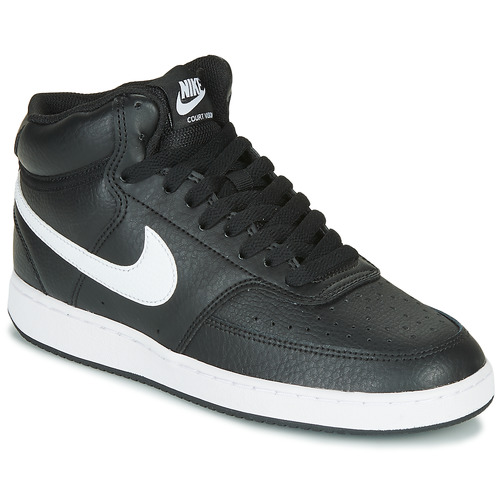 Shoes Women Hi top trainers Nike COURT VISION MID Black / White