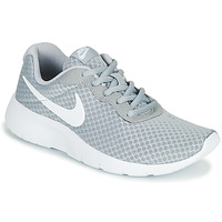 Shoes Children Low top trainers Nike TANJUN GS Grey / White