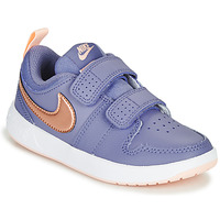 Shoes Girl Low top trainers Nike PICO 5 PS Purple / Pink
