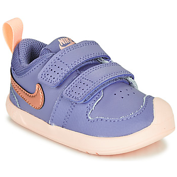 Shoes Girl Low top trainers Nike PICO 5 TD Purple / Pink