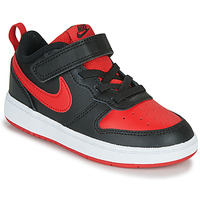 Shoes Children Low top trainers Nike COURT BOROUGH LOW 2 TD Black / Red