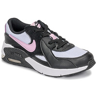 Shoes Girl Low top trainers Nike AIR MAX EXCEE PS Black / White / Pink