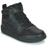 Shoes Children Hi top trainers Nike COURT BOROUGH MID 2 PS Black