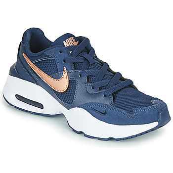 Shoes Children Low top trainers Nike AIR MAX FUSION GS Blue / Coppery