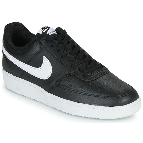 Shoes Men Low top trainers Nike COURT VISION LOW Black / White