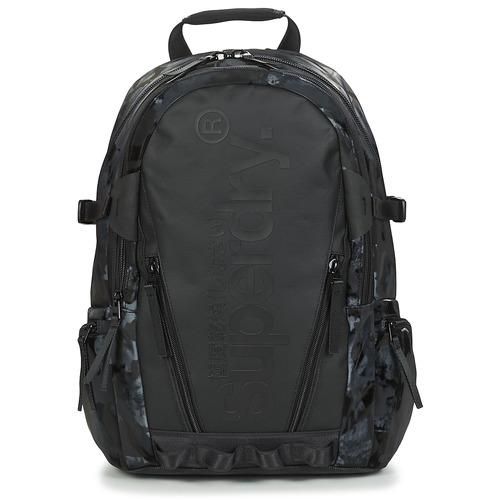 Bags Rucksacks Superdry HARBOUR TARP BACKPACK Black