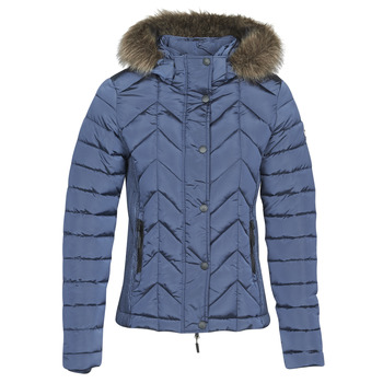 Clothing Women Duffel coats Superdry LUXE FUJI PADDED JACKET Blue