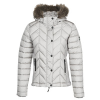 Clothing Women Duffel coats Superdry LUXE FUJI PADDED JACKET Silver