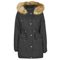 Clothing Women Parkas Superdry NADARE MICROFIBRE PARKA Black
