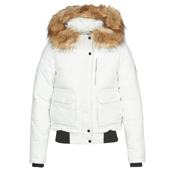 Clothing Women Duffel coats Superdry EVEREST BOMBER White