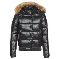 Clothing Women Duffel coats Superdry HIGH SHINE TOYA BOMBER Black