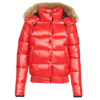 Clothing Women Duffel coats Superdry HIGH SHINE TOYA BOMBER Red