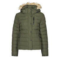 Clothing Women Duffel coats Superdry CLASSIC FAUX FUR FUJI JACKET Dark / Moss