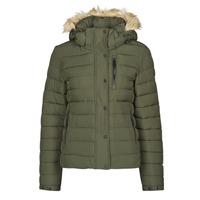 Clothing Women Duffel coats Superdry CLASSIC FAUX FUR FUJI JACKET Dark / Moss