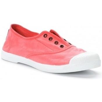 Shoes Women Tennis shoes Natural World Tennis en toile Aspect Délavée 652-102E Rouge Enz Red