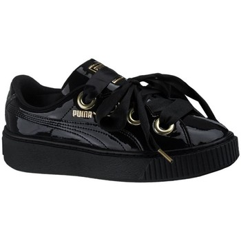 Shoes Girl Low top trainers Puma Platform Kiss Patent Black