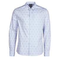 Clothing Men Long-sleeved shirts Emporio Armani 6H1C80 Blue